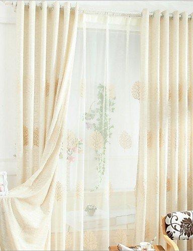 CLL/Due Pannelli rustico floreale/botanica beige camera da letto ...
