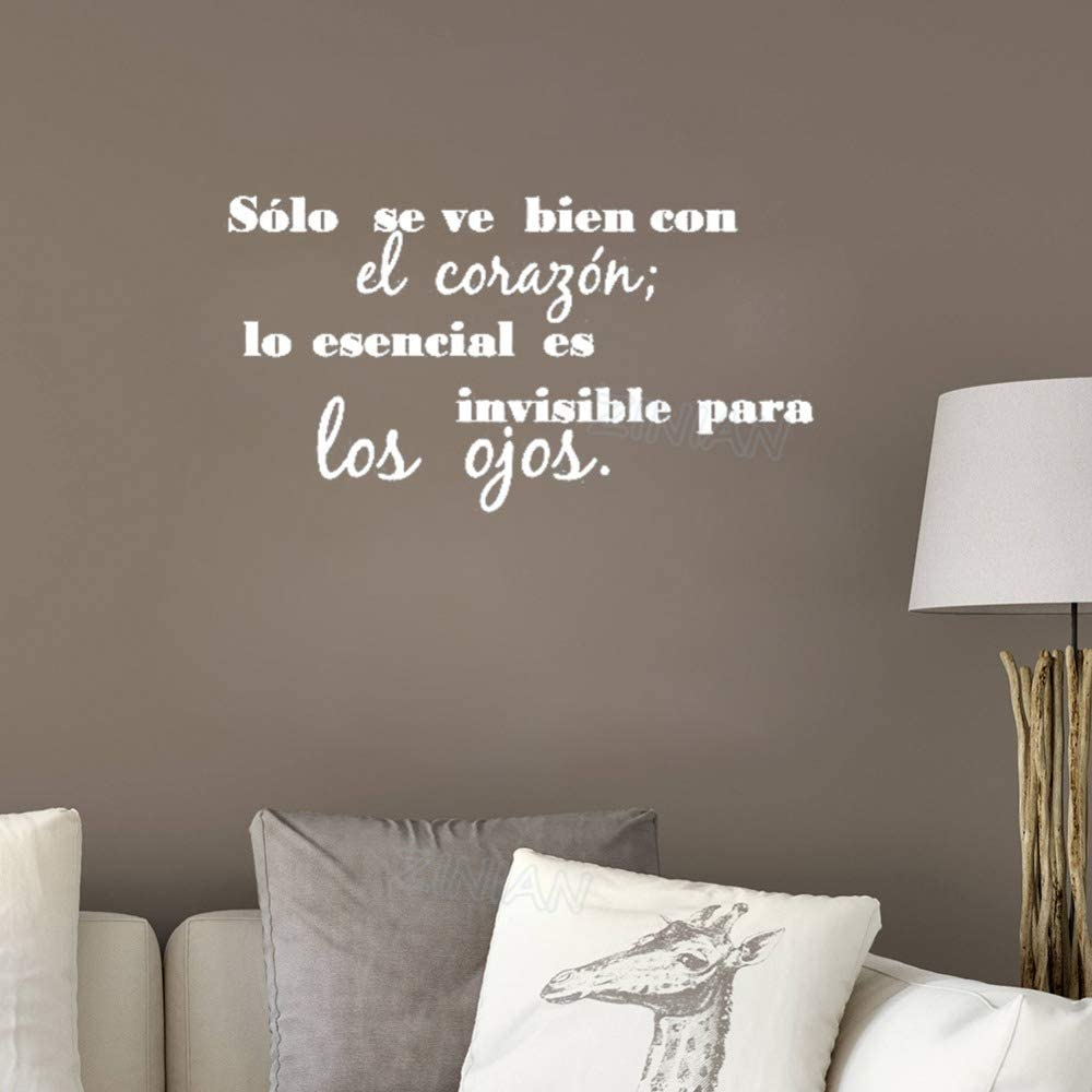 yiyiyaya Cita en español Tatuajes de Pared Sala de Estar Casa ...