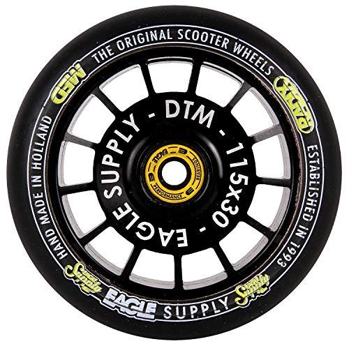 Eagle Supply ブラック-ブラック Radix DTM Hollowtech 90A - 115mm シングルスクーターホイール