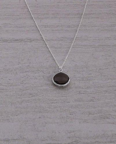 Smoky Teardrop Necklace - 2