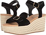 Lucky Brand Women's Naveah Espadrille Wedge Sandal, Black, 7.5 M US
