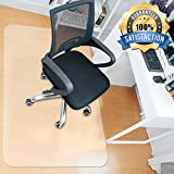 MATDOM Chair Mat for Wood Floor at Home and Office Heavy Duty Transparent Solid Multiple Size Eco-Friendly, 1/16'' Thick