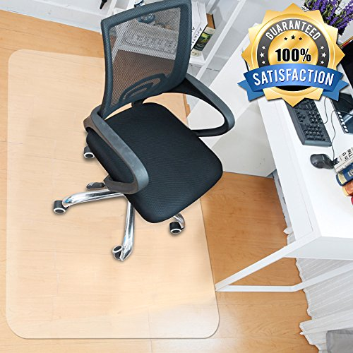 MATDOM Chair Mat for Wood Floor at Home and Office Heavy Duty Transparent Solid Multiple Size Eco-Friendly, 1/16'' Thick by MATDOM