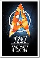 "NobleWorks ''Star Trek or Treat'' Funny Halloween Greeting Card, 5"" x 7"" (3045)"