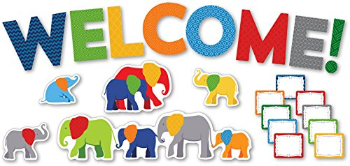 Parade of Elephants Welcome Mini Bulletin Board Set