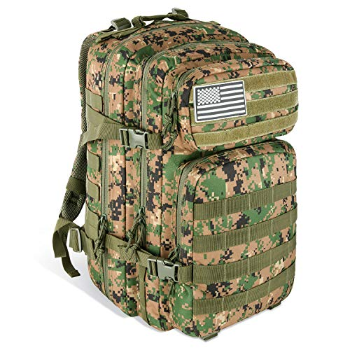 Gear Tactical Backpack - MEWAY 42L Military Tactical Backpack Large Assault Pack 3 Day Army Rucksacks Molle Bug Out Bag Outdoors Hiking Daypack Hunting Backpacks (Jungle)