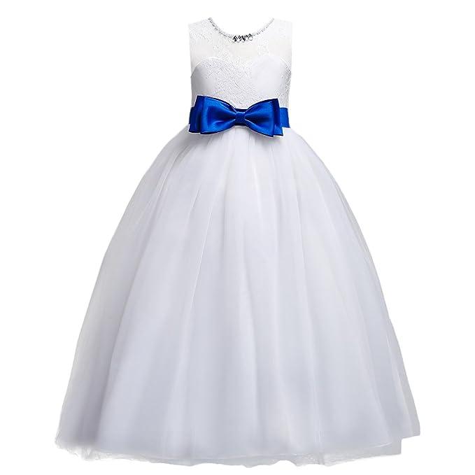 Amazon.com: IBTOM CASTLE Big Girl Vintage Lace Junior Bridesmaid ...