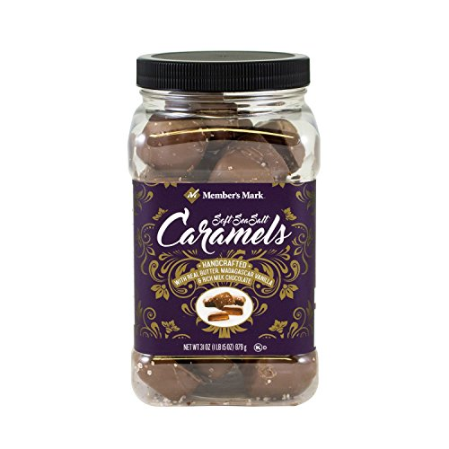 Members Mark Milk Chocolate Soft Sea Salt Caramels-31 oz (2 PK)