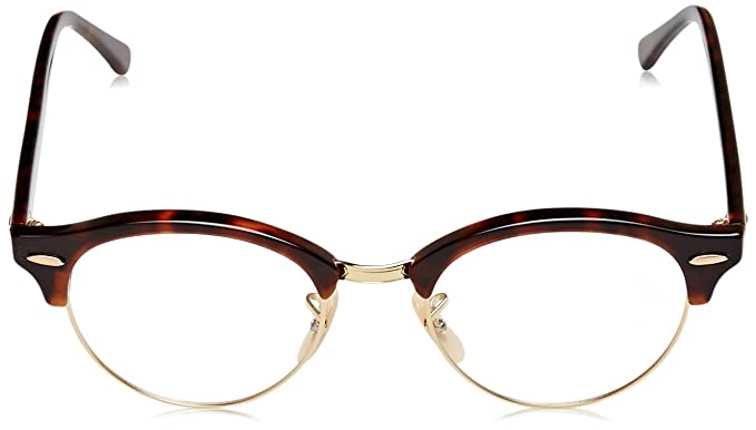 914a570a21 Amazon.com  Ray-Ban Unisex RX4246V Clubround Eyeglasses Red Havana 47mm   Clothing
