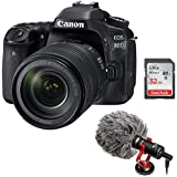 Canon EOS 80D DSLR Camera with 18-135mm Lens plus Boya BY-MM1 Shotgun Video Microphone and 32GB SDHC Memory Card