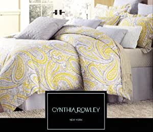 Amazon Com Cynthia Rowley 3pc Duvet Cover Set Paisley