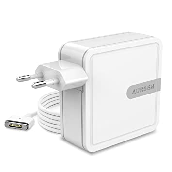 Aursen 45W Adaptador de corriente Magsafe 2 (T Forma), Cargador Adaptador para Apple MacBook Air 11