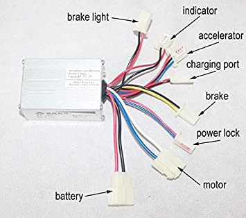 lb27 electric scooter controller wiring diagram complete wiring  amazon com 24v 250w motor brush speed controller for electric bike rh amazon com 24v e scooter wiring diagram electric scooter throttle wiring diagram