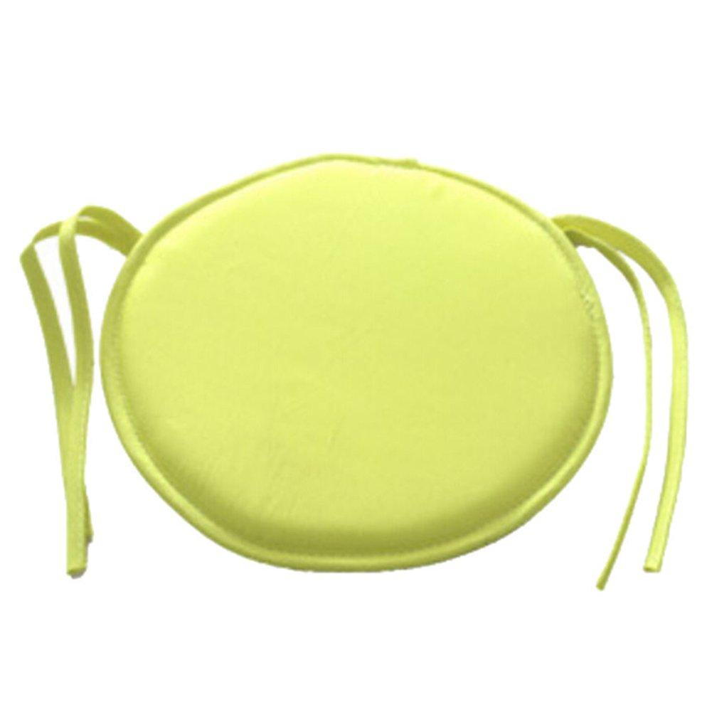 Cuscino di imbottitura per sedia, rotondo, con 9 colori a scelta, per interni, da pranzo, da giardino, da casa, divano, ufficio, cucina Taglia libera yellow con 9colori a scelta Woopower