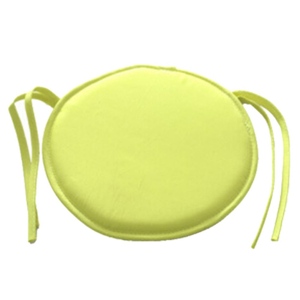 Chair Pads, Round Chair Seat Pads Cushion with 9 Color Choice, for Indoor Dining Garden Patio Home Sofa Office Kitchen (12 Pack, Light Yellow)