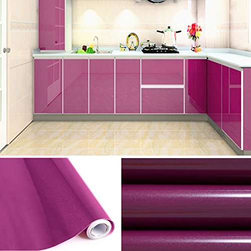 KINLO Tapeten küche Lila 2 Stk. 61x500cm aus hochwertigem PVC ...