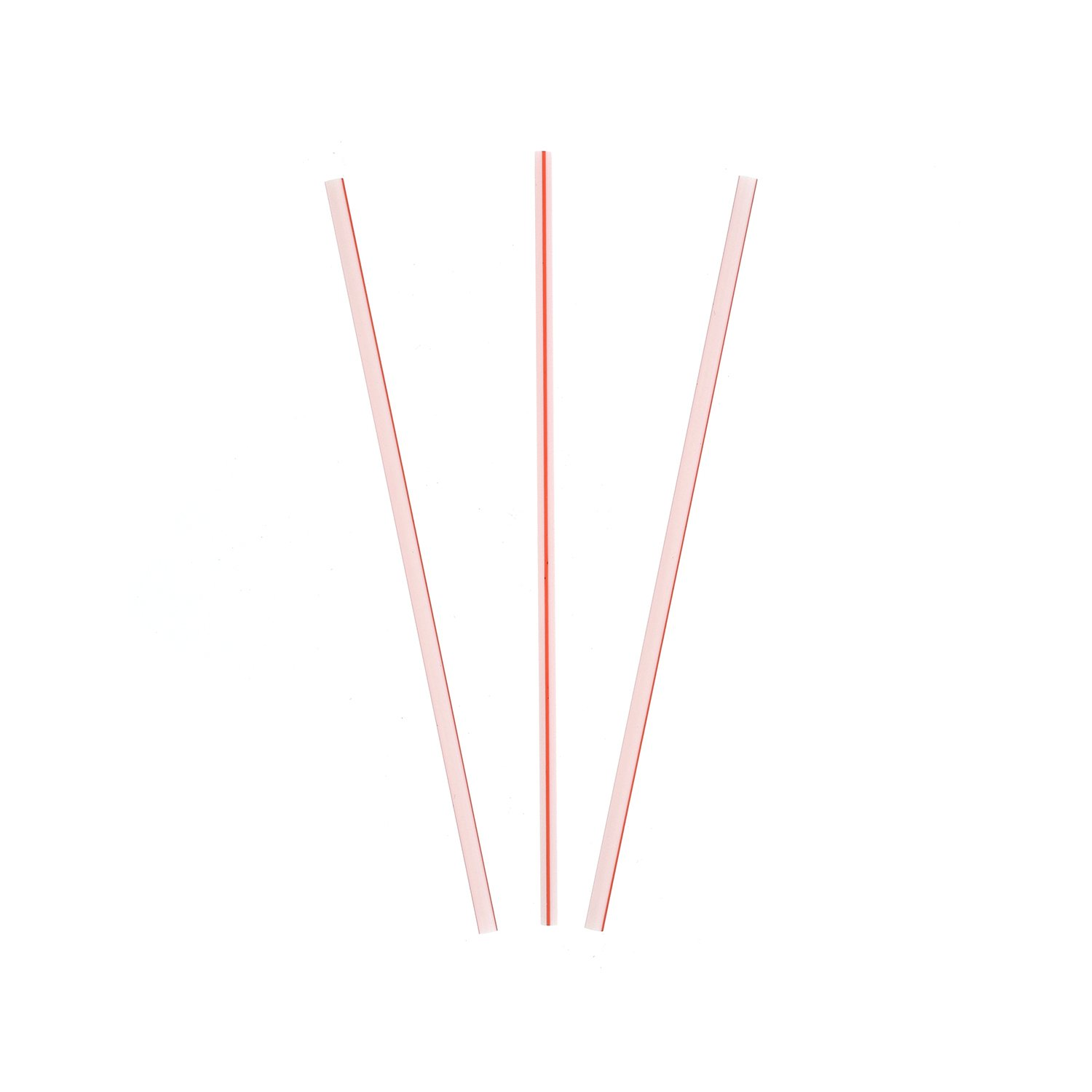 Royal 5'' White with Red Stripe Sip Straw, Case of 10,000