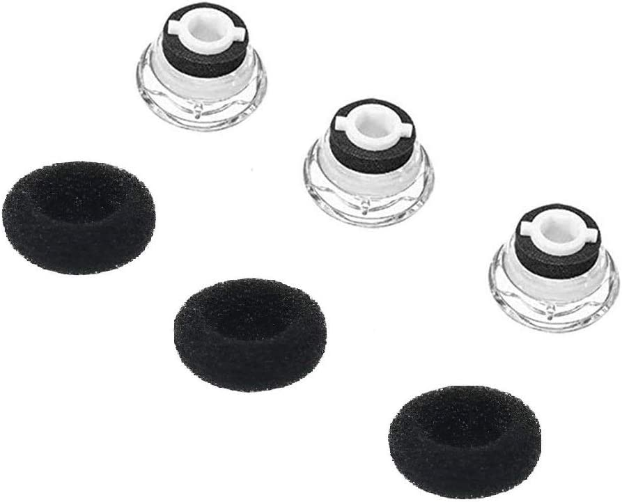 6 pcs Voyager PRO//PRO+ HD with Foams. Soft Eargels for Plantronics Voyager 5200//5220 Spare Ear Buds//Gels Replacement Kit 6 Large, Black Voyager Legend