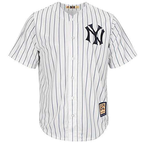 Jersey Authentic (OuterStuff New York Yankees Wordmark White Pinstripe Youth Authentic Home Jersey (Small 8))