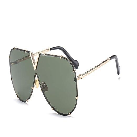 hw Gafas de Sol siamesas de Color para Mujer Gafas de Sol de ...