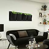 KISSTAKER Vertical Garden Planter, 4 Pockets Wall