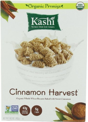 Kashi Cinnamon Harvest Cereal, Organic, Non GMO, 16.3 oz, Pack of 3 (Peanut Kashi Butter)