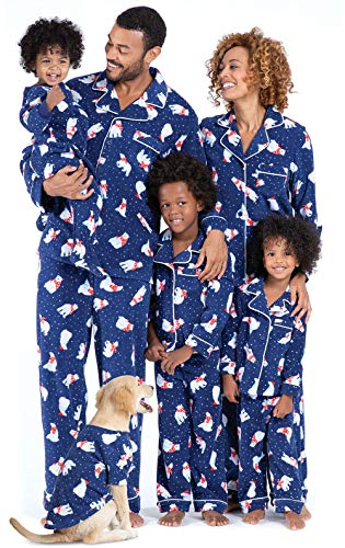PajamaGram Family Matching Christmas Pajamas - Fleece, Navy