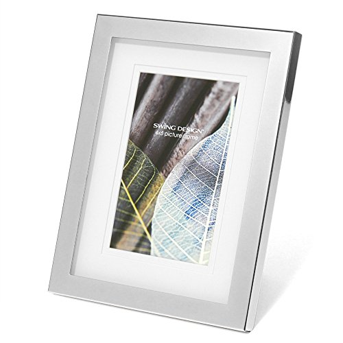 Swing Design Parker Picture Frame, 4 by 6-Inch, Brushed Nickel