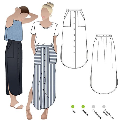 Style Arc Sewing Pattern - Indigo Maxi Skirt (Sizes 04-16) - Click for Other Sizes -