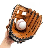 HANSHI Baseball Gloves with Soft Solid PU Leather Thickening Pitcher Softball Gloves for Child/Teens/Adult Professional Baseball Mitt for Catching - Left Hand Throw HCT24 (L:12.5Inches)