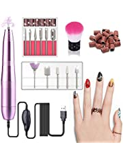 USB Electric Nail Drill Set, Portable Manicure Pedicure Drill Kit With 11 Grinder Bits For Gel Nails, Nail Salon and DIY Manicure
