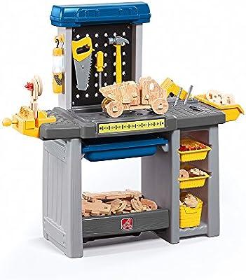 .com: step2 handyman kids toolbench, blue: toys & games