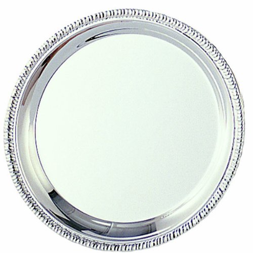 Customizable High Polished Stainless Steel Gadroon Tray, Serving Plate, 10