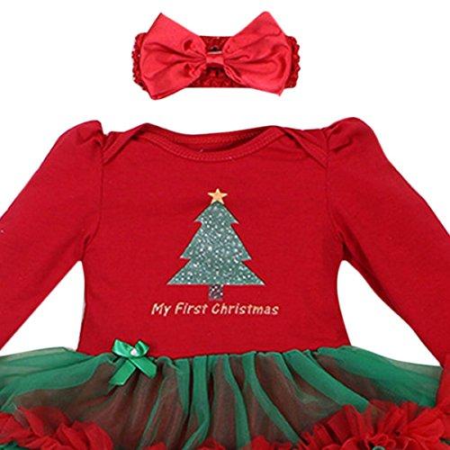 Amazon.com: 4pcs Newbron Baby Girls Christamas Tutu Dress Headband Baby Shoes Outfit Sets, S: Clothing