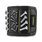 Tools & Hardware : Magnetic Wristband, Kusonkey Tool Belt with 15 Powerful Magnets for Holding Screws/Nails/Drill Bits, Versatile Christmas Tool Gift for Men/Father/Dad/DIY Handyman/Electrician/Husband/Boyfriend.