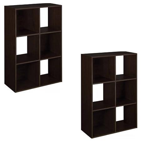 ClosetMaid 6 Cube Organizer, Espresso (Pack Of 2)