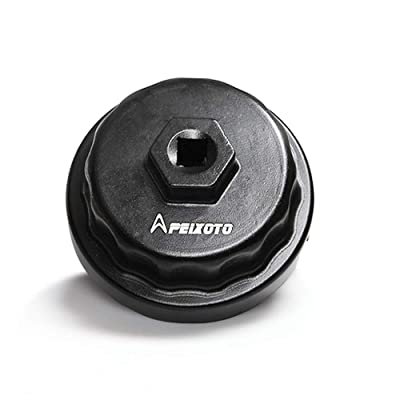 Apeixoto Oil Filter Wrench Cap Removal Tool Fits 64mm Cartridge Housing for Camry Rav4 Highlander Sienna Tundra with 2.5L-5.7L Engine: Automotive