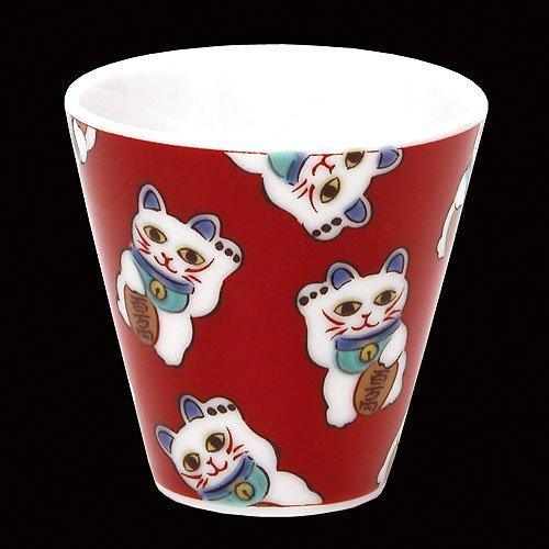 KUTANI YAKI(ware) Sake Cup Manekineko