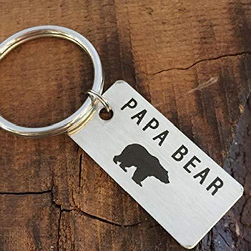 Papa Bear Keychain Gift For Idea Birthday