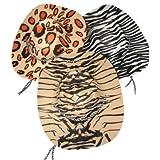 Foam Animal Print Cowboy Cowgirl Hats (1 dz)