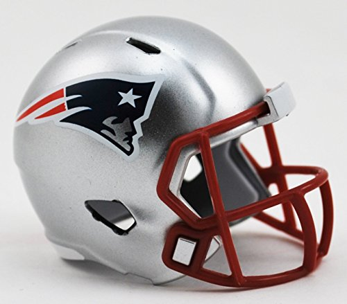 (New England Patriots NFL Riddell Speed Pocket PRO Micro/Pocket-Size/Mini Football Helmet)