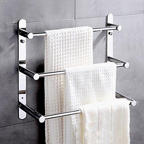 ximeiyangweiyu Bathroom Shelves Towel Bar Bath Storage Hanging Organizer 16-Inch Contemporary Hotel Style Wall Mount, Polished Finish