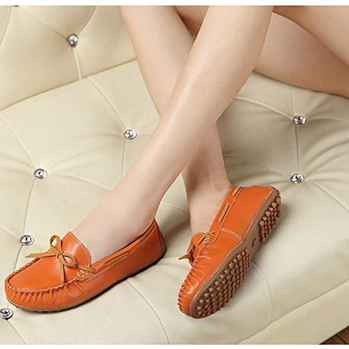 Bean Activities Comfortable Yangjiaxuan Shoes Shoes Women's Soft Flat Orange Casual Indoor Wear Surface xwq4FwA
