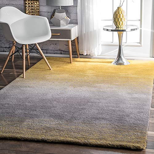 nuLOOM HJOS01A Hand Tufted Ombre Shag Rug 5 x 8 Yellow