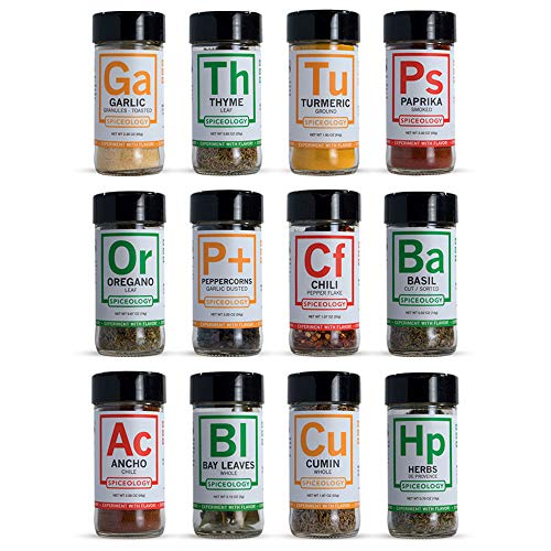 12 Essential Spices and Herbs - Spiceology Set of Kitchen Essential Spices (12 Pack) by Spiceology (Image #3)
