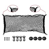 IDEAPRO Car Rear Cargo Net Multipurpose Elastic Bungee Envelope Style Trunk Luggage Cargo Storage Network Organizer Net Auto Interior Storage Mesh with Mounting Screw (35*12 Inch)