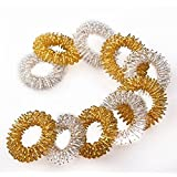 NO:1 10 Pcs Acupressure Massage Rings Chinese Medicine Finger Health Caring Applies