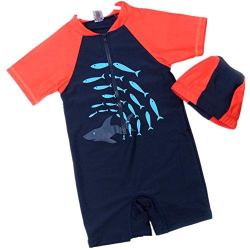 Bigface Up Unisex One Piece Swimsuit Sunsuit Surfing Suits For Boys UPF 50+ B 2-3T