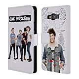 Official One Direction 1D Louis Half Group Photo Solo Leather Book Wallet Case Cover for Samsung Galaxy A3 LTE A3000 Dual / Galaxy A3 LTE A300FU / Galaxy A3 LTE A300F / Galaxy A3 3G A300H Duos