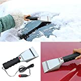 12V Car Heated Auto Winter Vehicle Snow Ice Scraper Window Shovel Snow Removal Tool